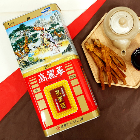 [양삼] 6년근 고려홍삼 20지 600g, [Good Grade Ginseng] 6-year-old Korean Red Ginseng  20 pieces 600g